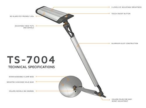 Turcom Led Desk Lamp With Architect Swing Adjustable Arm