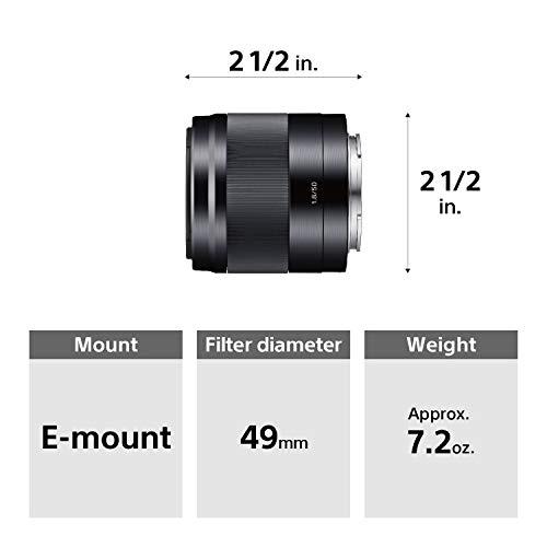 Sony E 50mm F1.8 Portrait Lens