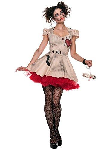 Seeing Red Women's Plus Size Voodoo Doll Vixen Costume Multi X-Large (Womens Plus Size Voodoo Doll Costume)