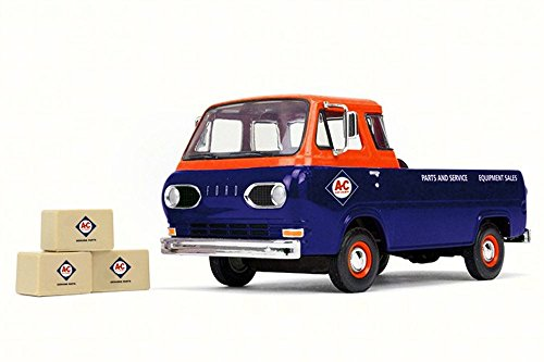 1960 Allis-Chalmers Parts & Service Ford Econoline Pick-Up w/ 3 Boxes, Orange & Blue - First Gear 49-0401 - 1/25 Scale Diecast Model Toy Car