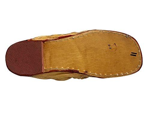Step N Style Mens Scarpe Kolhapuri Scarpe Etniche Scarpe Indiane In Pelle Mojari Piatta Jalsa