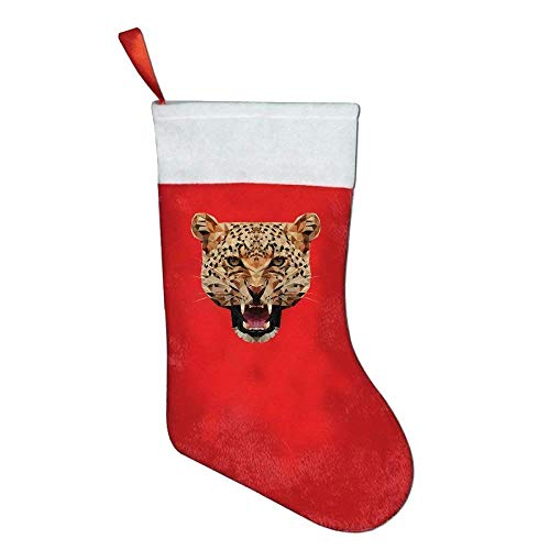 KMAND Christmas Stockings Geometric Animal Series Leopard Christmas Holiday Stockings by KMAND