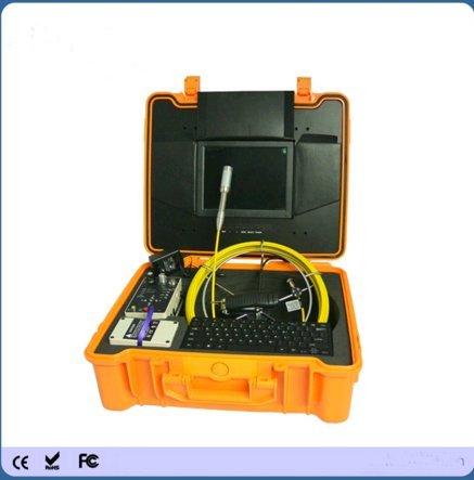 Kohstar 10'' HD LED 40m fibreglass push rod sewer inspection digital camera with DVR function and transmitter ()