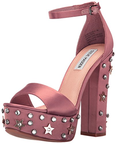 Steve Madden Women's Glory Platform Dress Sandal, Dusty Rose, 8.5 M (Stud Platform Sandal)