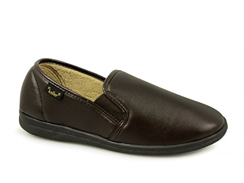 Dr Keller - Zapatillas de estar por casa de material sintético para hombre Marrón
