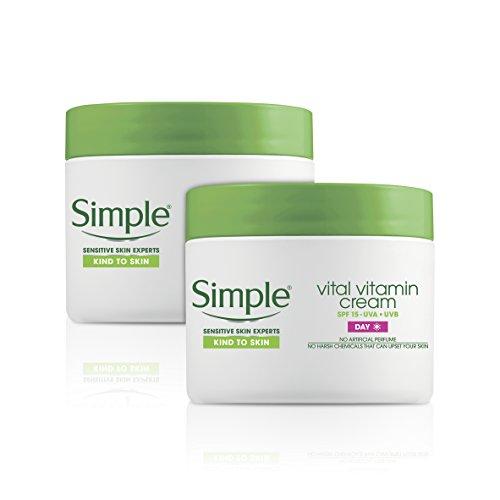 Simple Kind to Skin Vital Vitamin Day Cream (50ml) - Pack of 2 (Moisturizer Rose Vital)