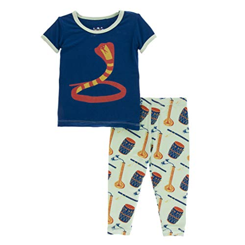KicKee Pants Print Short Sleeve Pajama Set in