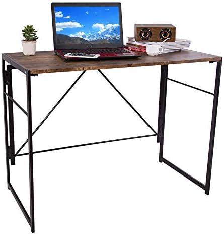 Benzoyl Computer Desk Folding Laptop Desk Foldable Writing Table 39″ Small Writing Study Table