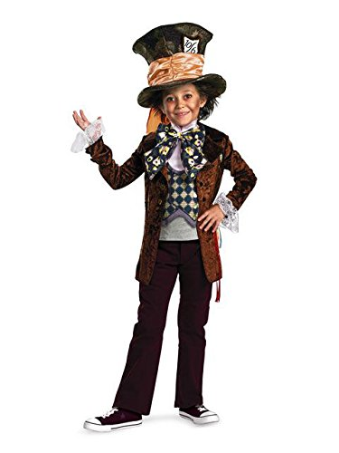 (Disguise Costumes Mad Hatter Movie Deluxe Costume (Boys), Medium (7-8)