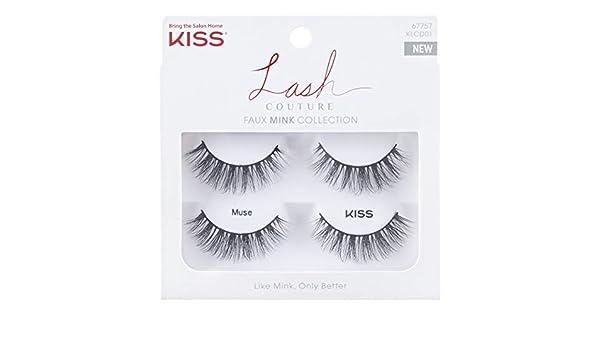 d8ea09ba2c3 Amazon.com : Kiss Lash Couture Faux Mink Muse Double Pack (6 Pack) : Beauty