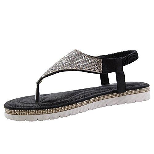 Saute Styles Zapatos con Talón Descubierto Mujer Black Summer Sling Back