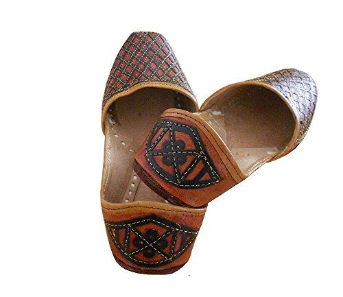 de kalra traditionnel imitation Creations indien Chaussures Parti femme pour cuir en 6ra1aEq