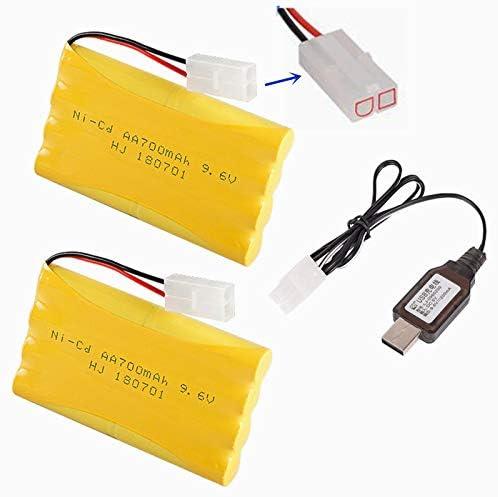2 Baterias AA 9.6v 700 mAh Ni-Cd + cargador USB
