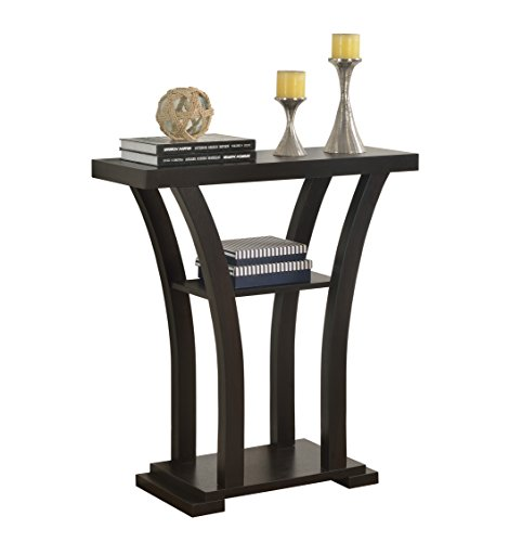 Crown Mark Draper Console Table, Espresso - Entry Accent Table