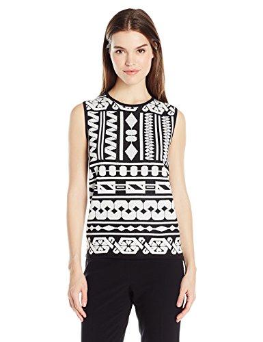 Anne Klein Women's Jacquard Sweater Tank