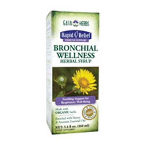 Gaia Herbs – Bronchial Wellness Herbal Syrup 5.4 oz Pack of 2