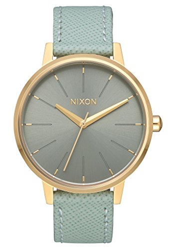 Nixon-Womens-Kensington-Leather-Watch-33mm-Light-GoldAgave-One-Size