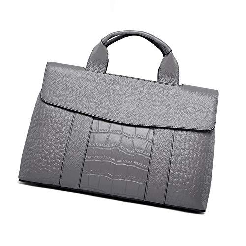 Capacité Motif Grande Sac épaule Bag Cuir Dames En Grey Sauvage Mode Sac LQQAZY Crocodile Messenger à Main 0XTd8n
