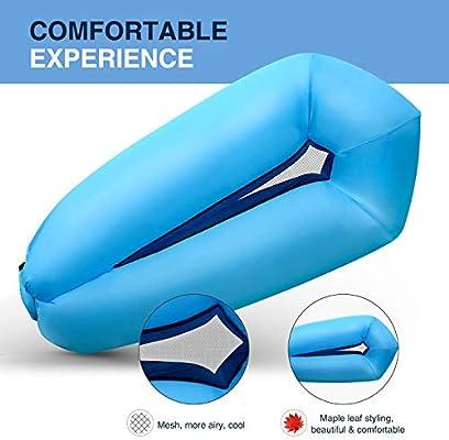 Amazon.com: Shenkey tumbona inflable, 2019, sofá de aire ...