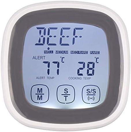 Fleischthermometer, Touchscreen Küche Kochen Digital Food Fleischthermometer Timer Tool mit Sonde