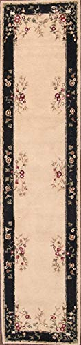 Rug Source 10 ft Long Hand Made Traditional Aubusson Oriental Area Rug (10' 4