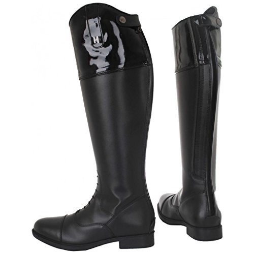 Horka Boots Emy Rubber Stones Equestrian Back Riding Rhine Horse Black Top Zip Adults RRqHxC