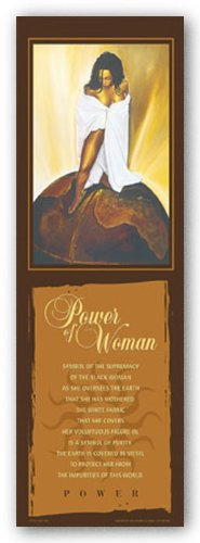 "Bruce Teleky Power of Woman (Statement Edition) by Kevin Williams (WAK) 36""x12"" Art Print Poster African-American from Bruce Teleky"