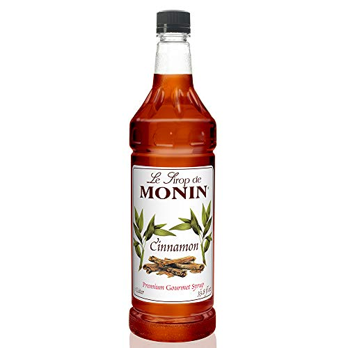 (Monin - Cinnamon Syrup, Sweet and Spicy Taste of Cinnamon, Versatile Flavor, Natural Flavors, Great for Coffees, Cocoas, Ciders, and Cocktails, Vegan, Non-GMO, Gluten-Free (1 Liter))