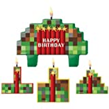 Amscan TNT Pixelated Party Birthday Candle Set