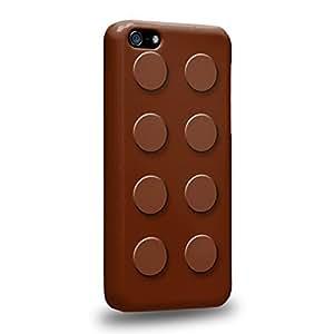 Case88 Premium Designs Art Brown Building Blocks Bricks Protective Snap-on Hard Back Case Cover for Apple iPhone 5c