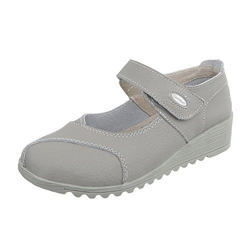 Women's Court Shoes Wedge Heel Wedges at Ital-Design Light Grey 8011 MDqfLU