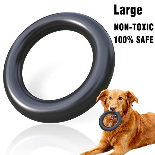 MigooPet Dog Chew Toys Tough Dog Toys for Aggressive Chewers – Lifetime Replacement – Non-Toxic Natural Rubber Small Large Dog Toys Durable Dog Toys for Small Large Dogs (Large, Black)