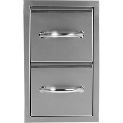 Medallion Double Handle - Luxor Medallion 12-Inch Double Storage Drawer - AHT-M-2D