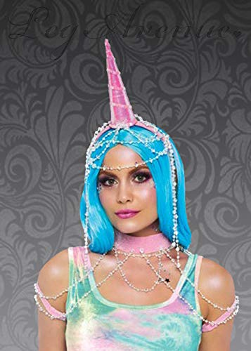 Magic Box Womens Pink Fantasy Unicorn Horn Showgirl Set