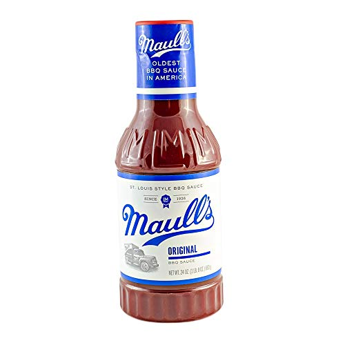 Maull's Original Barbecue Sauce, 24 Ounce Bottle (Pack of 2), St. Louis Style, Oldest in BBQ Sauce America