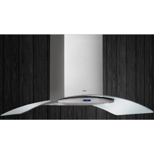 Elica Chimney Hoods - ELICA ECN642S2 Island Chimney Hood with 600 CFM Internal Blower, 4 Blower Speeds, Halogen Lamps, Electronic Controls, LCD Display and Dishwasher Safe Stainless Steel Micro Hole Filter