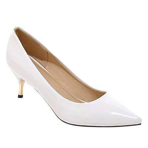 MissSaSa Femmes Enfiler Chaussures Escarpins Office Blanc Bout Fermeture Pointu à OOrqFWd