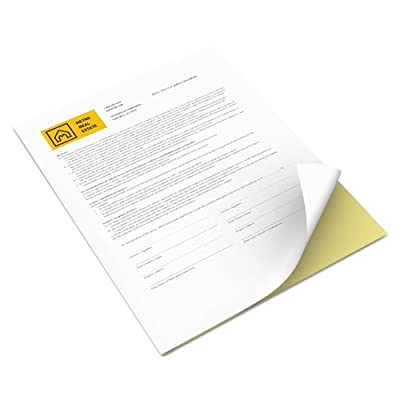 Xerox 3R12850 Vitality Multipurpose Carbonless Paper, Two-Part, 8 1/2 x 11, Canary/White