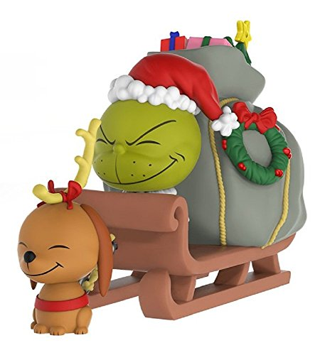 Funko- The Grinch, MAX & Sled Figura de Vinilo (21758)