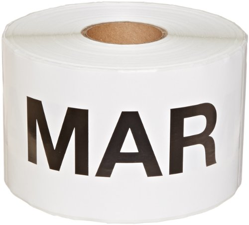 6 Inch Inventory Rectangle Labels - Tape Logic DL6742 Pre-Printed Months of the Year Inventory Rectangle Label, Legend