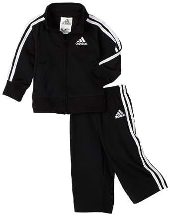 adidas Boys' Core Tricot Set, Black/white, 3 Months