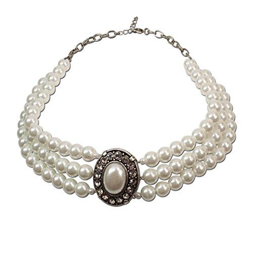 Alpenflüstern Damen Perlen-Collier Sissi creme-weiß DHK08700010