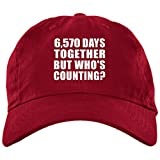 6570 low profile - Designsify 18th Anniversary 6,570 Days Together But Who's Counting - Brushed Twill Cap Red/One Size, Golf Baseball Hat