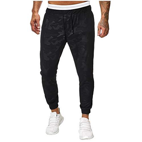 - UOFOCO Casual Camouflage Splicing Overalls Men Pocket Sport Work Trouser Pants