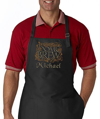 Personalized Men's Apron Home Brew Embroidered