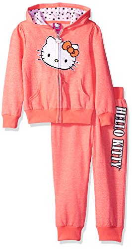 hello-kitty-little-girls-french-terry-active-set-neon-heather-coral-6x