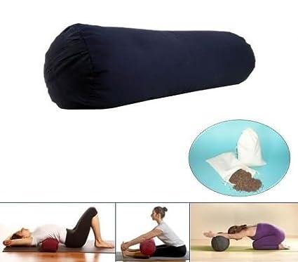 Yoga Bolster rollo color azul oscuro: Amazon.es: Deportes y ...
