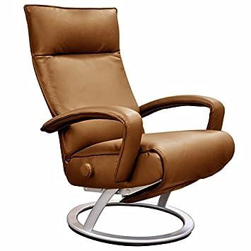 Magnificent Amazon Com Lafer Gaga Recliner Chestnut Leather Fch407 Machost Co Dining Chair Design Ideas Machostcouk