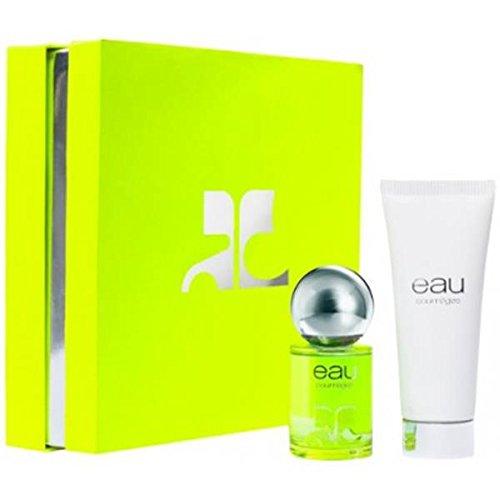 (Eau de Courreges Eau chest EDT 50ml + Shower Gel 100ml)