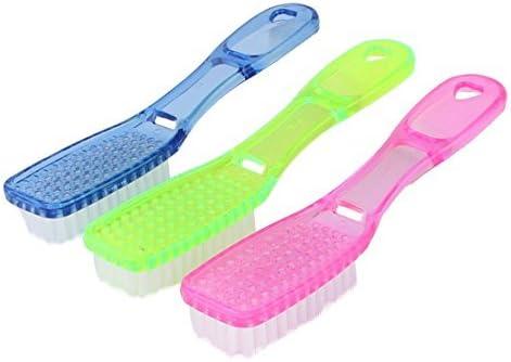 eDealMax mango de plástico para el hogar Ropa de baño Zapatos Scrubbing 3pcs herramienta de limpieza del cepillo